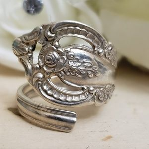 Jewelry - Vintage 925 Sterling Silver Spoon Ring Size 8